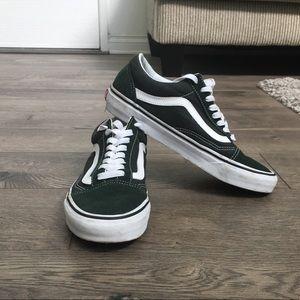 Vans Old Skool Green Skate Shoes